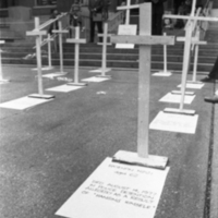 Fall 1977 Protest at Hatcher Graduate Library