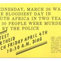 Protest Apartheid March Flyer
