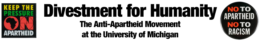 Divestment for Humanity: The Anti-Apartheid Movement at the University of Michigan
