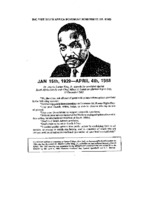 1986 FSACC Flyer with MLK Speech on Apartheid, December 10, 1962