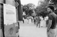 Demonstrators at Candlelight Vigil to Protest Apartheid, U-M Diag, June 16, 1986