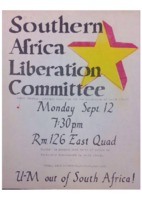 Southern Africa Liberation Committee Flyer