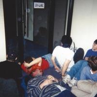 SOLE members block door