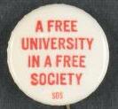 "SDS ""Free University"" Pin"