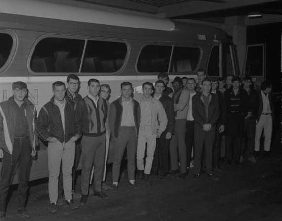 In November 1965, draftees are leaving Ann Arbor for the Vietnam War.