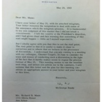 McGeorge Bundy Letter to Richard Mann