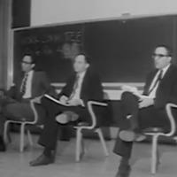 Faculty speakers at the 1965 U of M teach-in