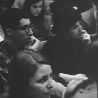 U of M students at the 1965 teach-in