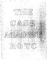 The Case Against the ROTC