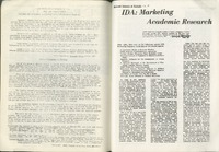 """IDA: Marketing Academic Research"" by Cathy McAffee in  January 1968."