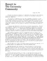 University Report to the Community-Subpoena