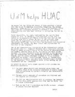 U of M Helps HUAC