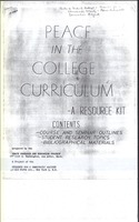 PREP Peace Curriculum 1963