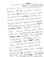 Arnold Kaufman handwritten notes about the 1965 teach-in