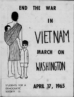 """SDS Poster, """"End the War in Vietnam March on Washington April 17, 1965"""""""