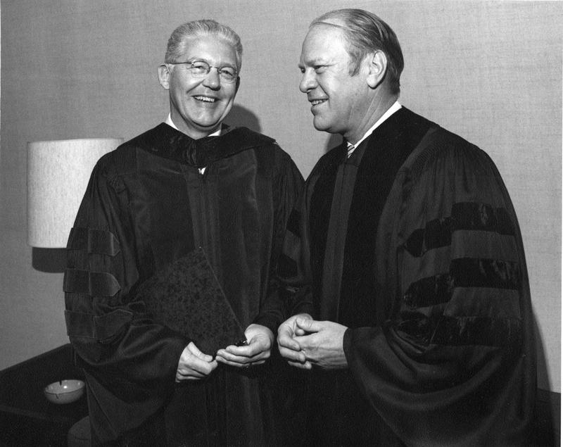 Robben Fleming and Gerald Ford