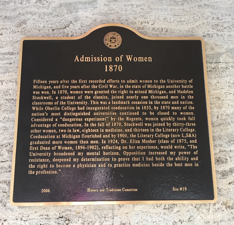 Admission of Women 1870 Angell Hall