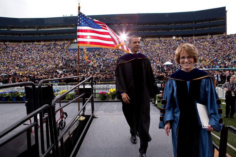 Mary Sue Coleman and Obama
