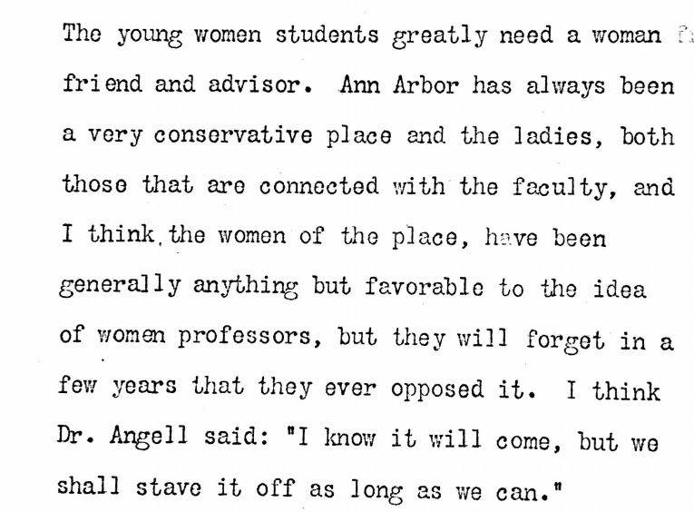 Letter from Lucinda Stone to Dr. Eliza Mosher