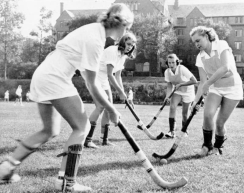 Women's Field Hockey on Palmer Field, 1957