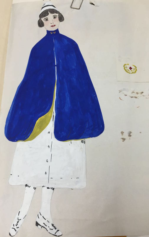 Nursing uniform drawing