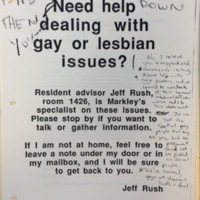 Lesbian and Gay Issues Poster, Defaced