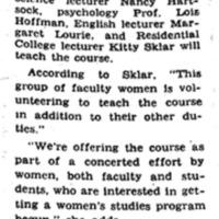 Michigan Daily Article Women's Studies