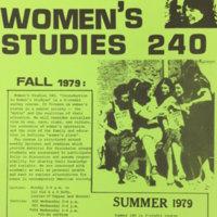Women's Studies 240 Flyer
