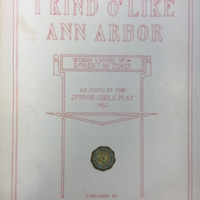 """I Kind o' Like Ann Arbor"" Sheet Music"