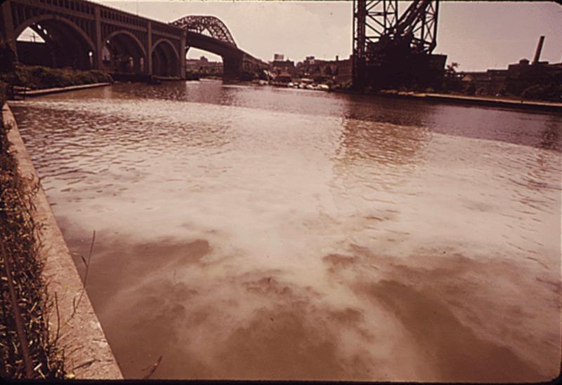 Sewage in Cuyahoga River