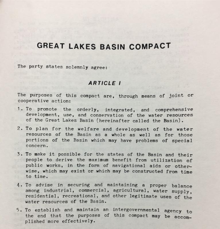 Great Lakes Basin Compact (1968)