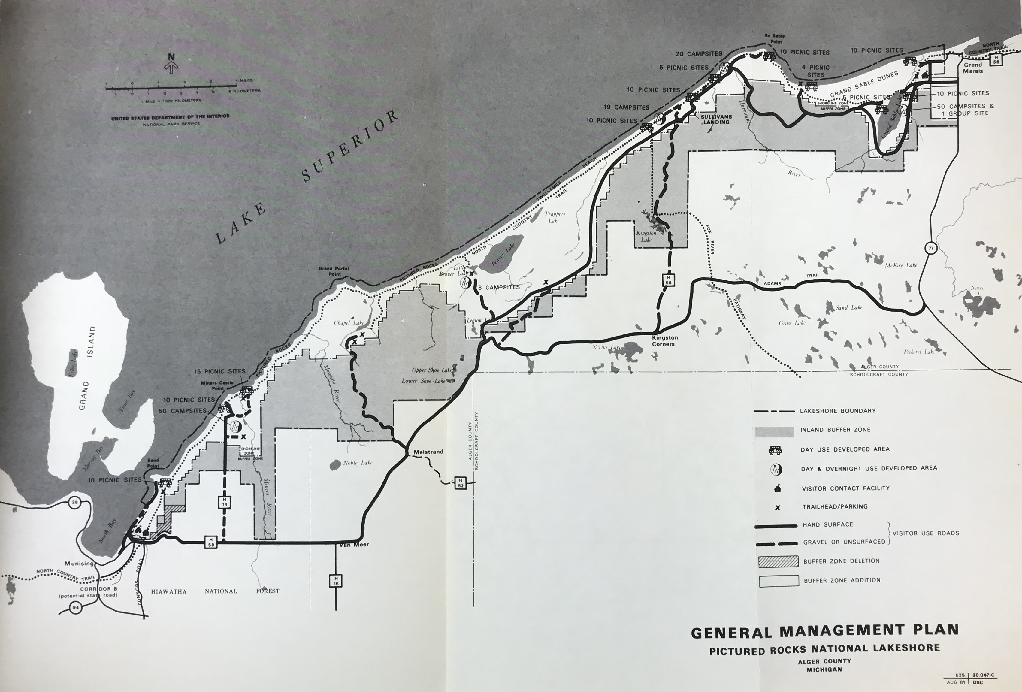 Picture Rocks Michigan Map.Pictured Rocks National Lakeshore Map Give Earth A Chance