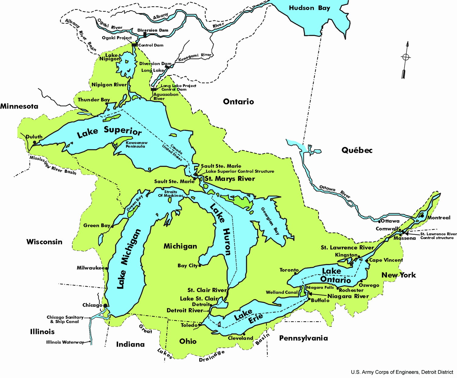 Great Lakes Map · Give Earth a Chance: Environmental Activism in ...