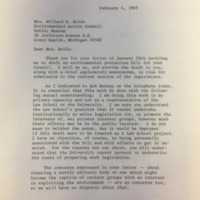 Response from Joseph Sax to Joan Wolfe