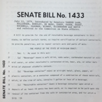 Senate's Version of the Bottle Bill