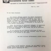WMEAC Letter to Senators, June 1970.