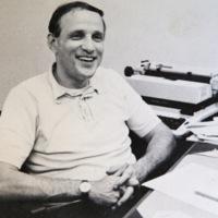 Joseph Sax at Desk, 1970