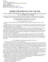 Reorganization Plan No. 3