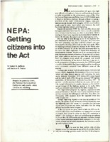NEPA: Getting Citizens into the Act