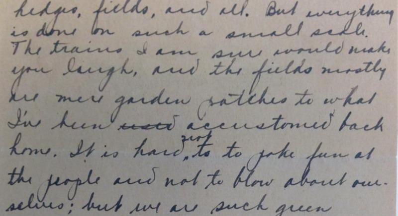 Hedges Fields Easlick Letter 9.16.1917