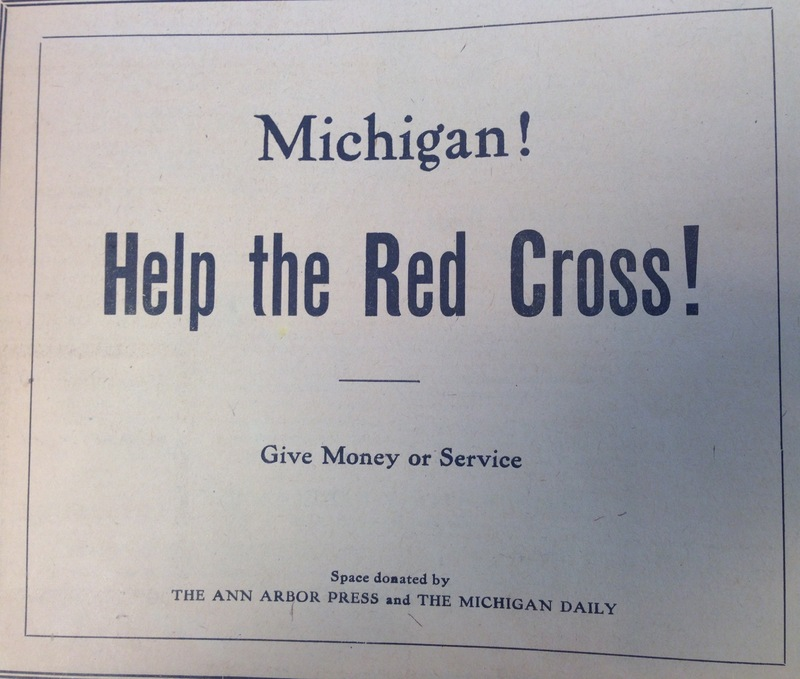 """Michigan! Help the Red Cross!"""