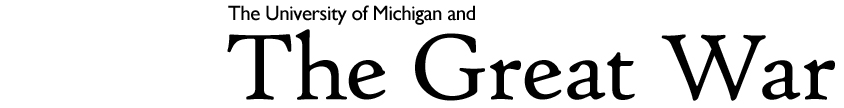 The University of Michigan and the Great War