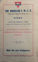 YMCA Travel Brochure for Rome