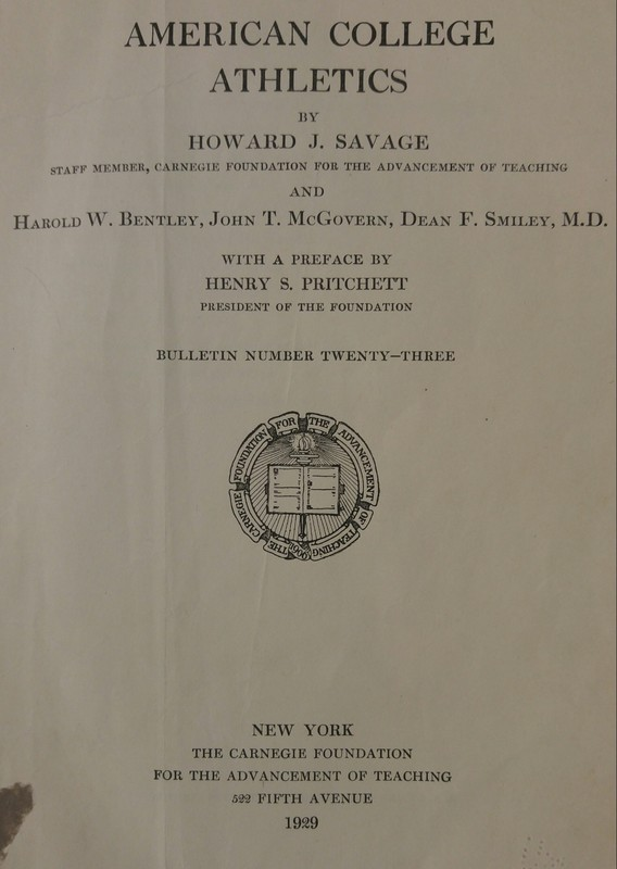 American College Athletics Title Page