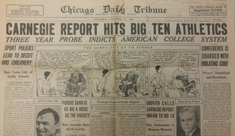 Carnegie Report Hits Big Ten Athletics