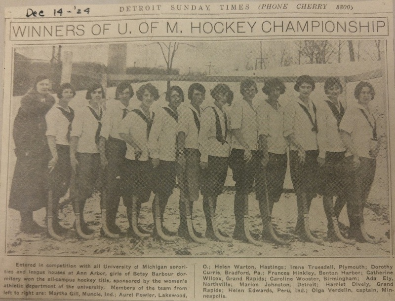 Winners of U of M Hockey Championship