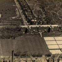 Aerial View of the Observatory and Surrounding Campus, 1937.