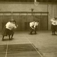 UM Women's Basketball, in Barbour Gym, ca. 1910