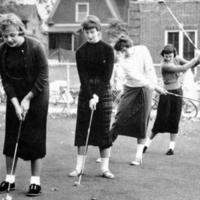 Women's Golf, Outdoor Practice, 1956