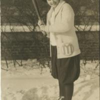 Miss Adelaide. Sherer, UM Softball, ca. 1924